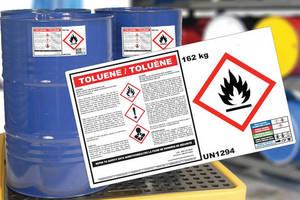 Hazardous Waste Drum Label